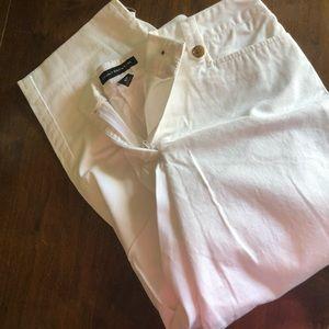 Never worn white capris